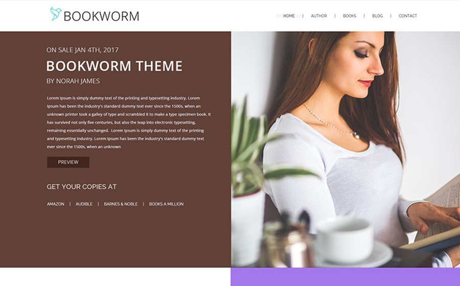 BookWorm Wordpress Template