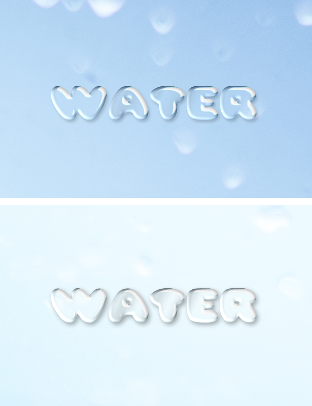 Water Text Effect | Free Download PSD Editable File