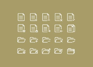 Document and Folders Icons