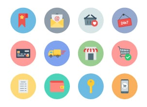 Flat E-commerce Icons