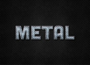 Metal Psd Text Effect