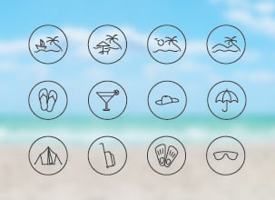 Holiday and Travel Icon Pack
